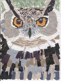 Owl paper mosaic