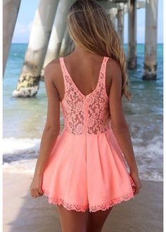 Pink dress #fashion woman wear ropa de mujer