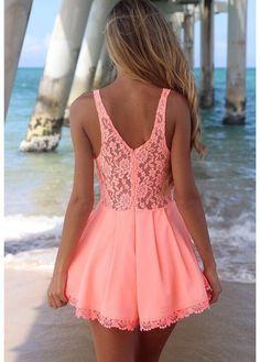 Pink dress #fashion woman wear ropa de mujer