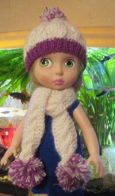 "Handmade outfit Fun Costume hat,scarf-for Disney Animator 16"" - ** grajam1961**"