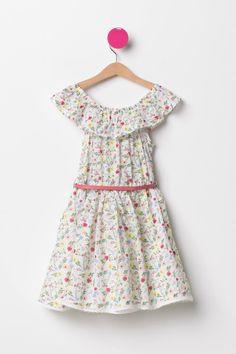 DeFacto Pembe Kız Çocuk Desenli Kız Çocuk Elbise 2