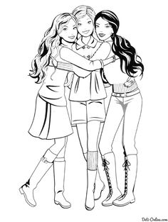 modern family coloring pages | Cute modern Barbie coloring pages | Family- For the 'Bugs ...