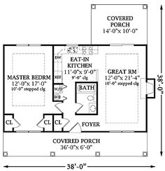 Home Plans HOMEPW26989 - 792 Square Feet, 1 Bedroom 1 Bathroom Cottage Home with