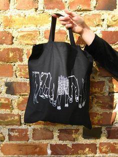 """""""Monsieur"""" tote bag by elinam designs"""