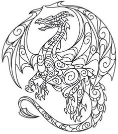 dragon coloring page for any age
