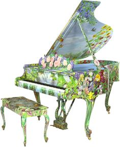Summertime By Timothy Martin  Every surface of this masterful celebration of summer is painted with the radiant florals of the season. Summertime is at once romantic and vibrant: the very essence of the summer.  This Instrument has Been Selected