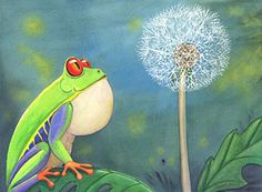 Frog Art Painting - The Wish by Catherine G McElroy