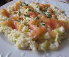 Recette Risotto poireau et saumon fumé par Anne Legoupil Ma cuisine tout simplement - recette de la catégorie Pâtes & Riz