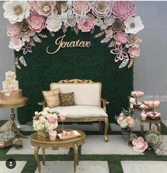 Beautiful Paper Flower Backdrop Wedding Ideas 15 Peonies continue to be a fairly huge deal in wedding world but they generally include a hefty price tag. With only a few basic actions you can also create your own flower origami paper lily. Paper Flower Backdrop Wedding, Wedding Flowers, Floral Backdrop, Bridal Shower Backdrop, Flower Wall Backdrop, Quince Decorations, Wedding Decorations, Wedding Ideas, Debut Decorations