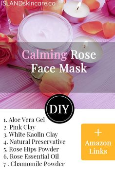 The calming DIY rose-based face mask is just spectacular! Face masks are our bea… – Keep up with the times. Rose Face Mask, Aloe Vera Face Mask, Diy Mask, Diy Face Mask, Avocado Face Mask, Dry Skin On Face, Organic Face Products, Homemade Facials, Homemade Beauty