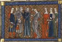 BNF Fr. 12565 (multiple stories within the same manuscript), mid-14th century)  fol 257, detail