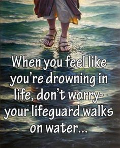 Love this, Peter only sank because he took his eyes off Jesus and onto his circumstances. Keep your eyes fixed on Jesus. Great Quotes, Quotes To Live By, Inspirational Quotes, Motivational, Bible Quotes, Me Quotes, Funny Jesus Quotes, Christian Quotes, In This World