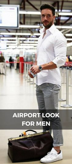 7 Airport Casual Outfits For Guys — Casual outfits for guys. Casual street style for men Men's Fashion, Stylish Mens Fashion, Mens Fashion Blog, Latest Mens Fashion, Fashion Styles, Airport Look, Airport Style, Smart Casual Men, Men Style Tips