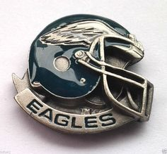 *** PHILADELPHIA EAGLES HELMET *** Novelty NFL Hat Pin P52011 EE