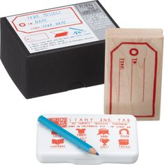 gift tag stamp activity kit in view all office | CB2