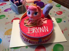 """Palace pets cake - Brynn likes this cake with Beauty and saying """"Brynn""""."""