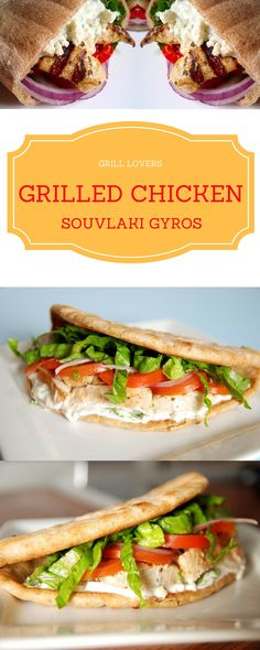 ' Grilled Chicken Souvlaki Gyros Recipe IngredientsChicken Souvlaki ...