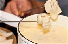 Swiss-style fondue with Gruyere cheese.