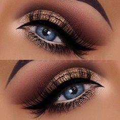 Blaues Auge Make-up Glitter Eye Makeup von Dr. - Make-up Eye Makeup Glitter, Blue Eye Makeup, Eye Makeup Tips, Makeup For Brown Eyes, Smokey Eye Makeup, Makeup Goals, Makeup Inspo, Eyeshadow Makeup, Makeup Ideas