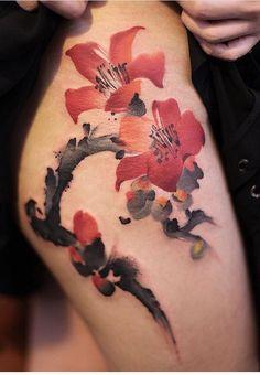 Chen Jie Newtattoo flower tattoo