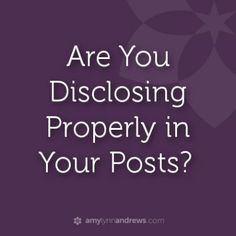 How to disclose. Tip: If you are going to have affiliate links on your site be sure to disclose! Shared by /pamelamkramer/