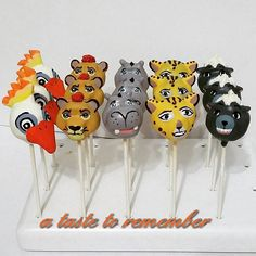 The Lion Guard cake pops
