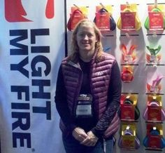 Candice from Industrial Revolution at Winter Outdoor Retailer 2012 #AmericanHikingSociety