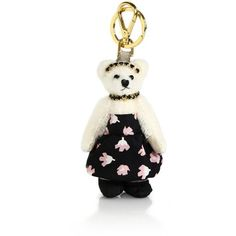 Prada Claire Bear Faux Fur Keychain ($104) ❤ liked on Polyvore featuring accessories, floral, keychains, keychain key ring, ring key chain, key chain rings, prada key ring and prada