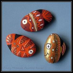 Fish Tails painted rocks
