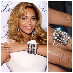 picture of beyonce's wedding ring