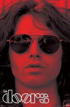 THE DOORS - JIM MORRISON RED POSTER - 22x34