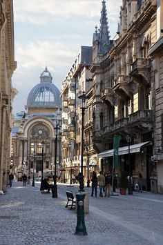 Stavropoleos street in Bucharest / Romania (by Alexandru Velcea). Beautiful Bucuresti-my birthplace and home ❤ Places Around The World, Oh The Places You'll Go, Places To Travel, Places To Visit, Around The Worlds, Travel Destinations, Romania Travel, Little Paris, Eastern Europe