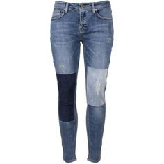Victoria, Victoria Beckham Ankle Slim Jeans (2.500 ARS) ❤ liked on Polyvore featuring jeans, pants, destructed jeans, slim fit jeans, blue jeans, slim leg jeans and zipper jeans