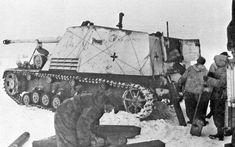 Nashorn tank destroyer in Vitebsk region,January 1944 #worldwar2 #tanks
