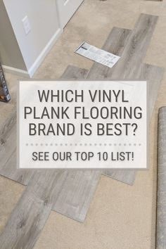 Today I'm sharing affordable vinyl plank flooring reviews from a homeowner. I'm looking at 10 different lines so you don't have to! :) Vinyl Flooring For Basement, Bathroom Flooring Options, Best Vinyl Flooring, Vinyl Flooring Bathroom, Luxury Vinyl Tile Flooring, Luxury Vinyl Plank, Diy Flooring, Flooring Ideas, Vinyl Floor Covering