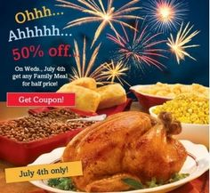 In celebration of Independence Day this week, here are a few deals and freebies for ya: Banana Republic Take an Extra 40% off already reduced items at Banana Republic online and in stores through 7/4. If you're shopping online, enter code BRSTARS at checkout to get the discount. Boston Market Get 50% off any Family [...]