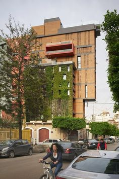 Lebanon-based architect Jean-Marc Bonfils has added staggered apartments and a vertical garden above a contemporary art gallery in Beirut& East Village East Village, Green Architecture, Architecture Design, Exterior Design, Interior And Exterior, Vertical Green Wall, Condominium Interior, Dezeen, Building