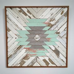 Reclaimed Wood Aztec Pattern by RustedWillowArtworks on Etsy https://www.etsy.com/listing/216293678/reclaimed-wood-aztec-pattern
