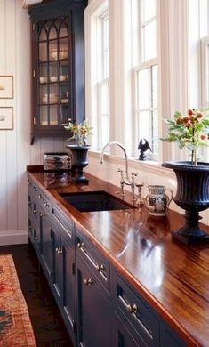 Dark, light, oak, maple, cherry cabinetry and unfinished wood kitchen cabinets home depot. CHECK THE PIC for Lots of Wood Kitchen Cabinets. Beautiful Kitchen Designs, Beautiful Kitchens, Cool Kitchens, Rustic Kitchens, Small Kitchens, Stylish Kitchen, Diy Kitchen, Kitchen Decor, Kitchen Cabinets