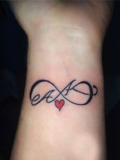 Infinity Tattoo Designs With Initials