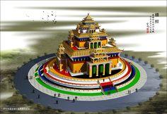 Another model of a mandala. Tibetan Mandala, Tibetan Buddhism, Buddhist Art, Vajrayana Buddhism, Self Defense Tips, Buddhist Traditions, World Peace, Dalai Lama, Mythical Creatures