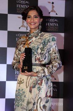 Sonam Kapoor launches L'Oreal Paris Femina Women Awards 2014. #Style #Bollywood #Fashion #Beauty