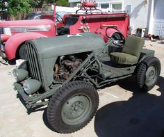 Antique Tractors, Old Tractors, Homemade Tractor, Jeep Gear, Vintage Jeep, Willys Mb, Ford Torino, Military Equipment, Custom Cars