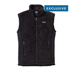 Patagonia Men's Los Gatos Vest - Deep pile, high comfort: This soft polyester fleece vest features soft deep-pile fleece on the torso and lightweight, warm polyester microfleece fabric on the sides and sleeves to reduce bulk.