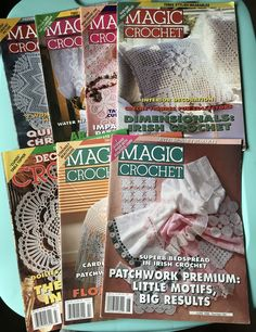 Magic Crochet vintage craft magazine back issues from 1996 & 1997 - crafting - craft projects by SweetEmotionVintages on Etsy
