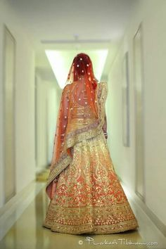 Ombre Indian wedding lehenga!! Desi fashion