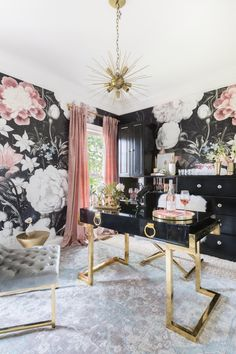 Inside Kaitlyn Bristoweu0027s Rosé Inspired Home Office Makeover. Modern Office  Decor, Home Office