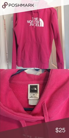 North Face pink hoodie! North face pink hoodie The North Face Tops Sweatshirts & Hoodies