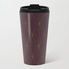 Gold Geometric Pattern Travel Mug