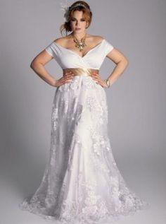imagenes de vestidos de novia para boda civil para gorditas